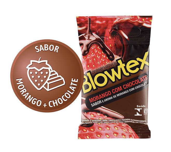 MORANGO COM CHOCOLATE C/3 UNIDADES